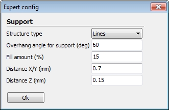 cura support type