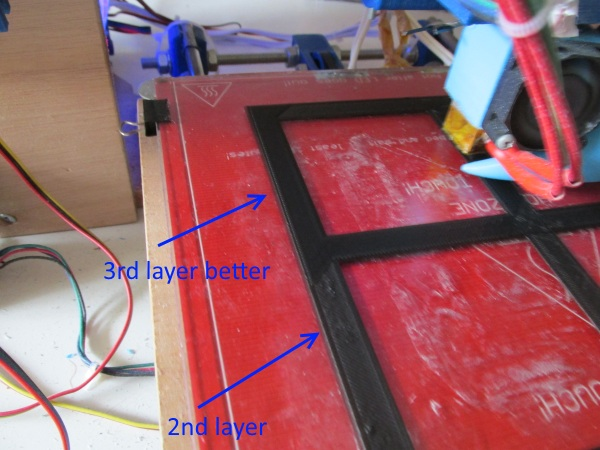 third layer heatbed