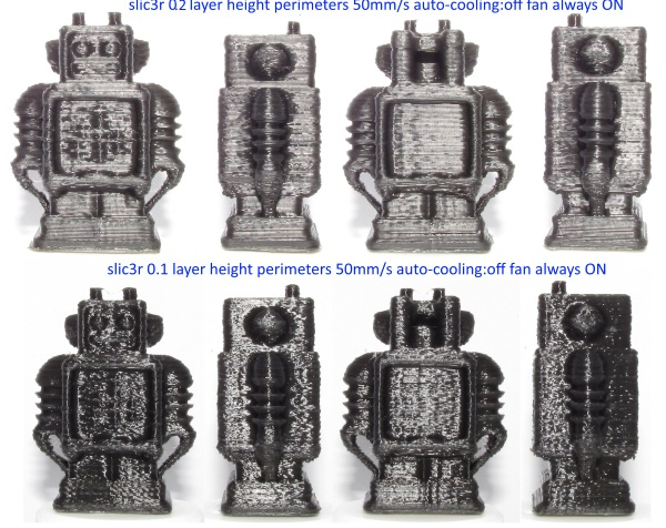 robots printed using slic3r