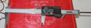 digital caliper measures x distance