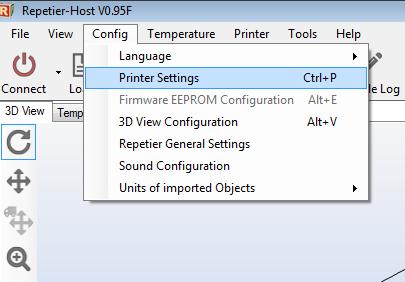 repetier host configure