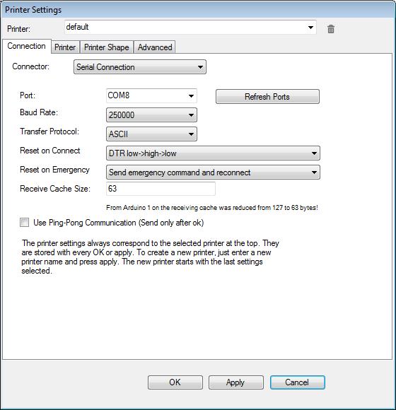 repetier host settings 1