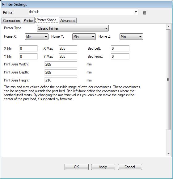 repetier host settings 3