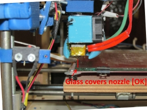 glass covers nozzle