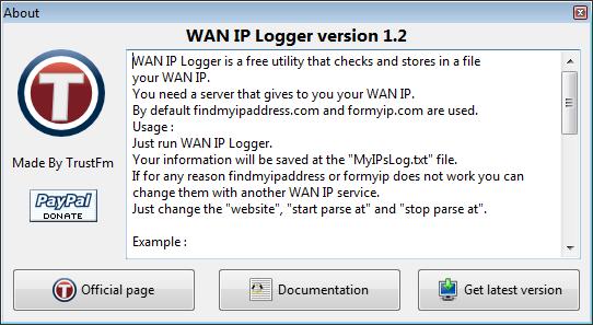 WAN IP Logger - Screenshots