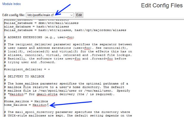 postfix config main.cf