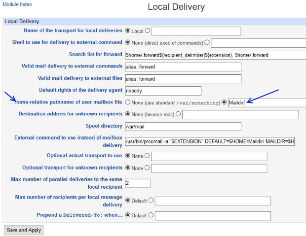 postfix local delivery