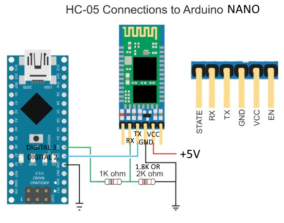 how to connect hc05-arduino-nano