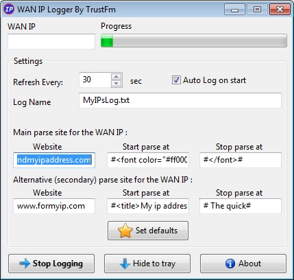WAN IP Logger Main Page (Official Page)